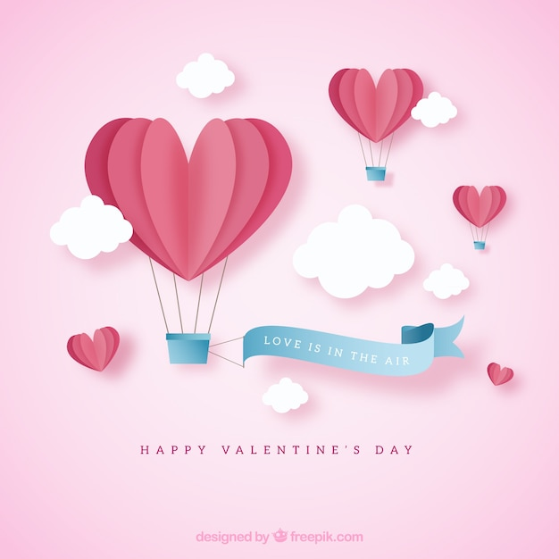 Cute valentine background Free Vector