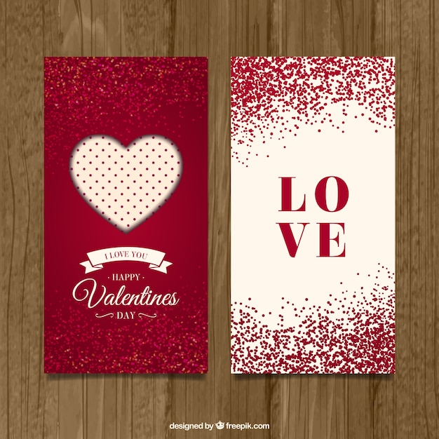 cute valentine day cards vector premium download