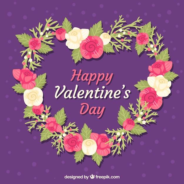 Cute valentine floral background