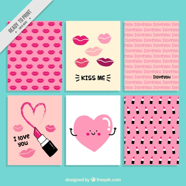Cute Valentine S Cards Vector Free Download