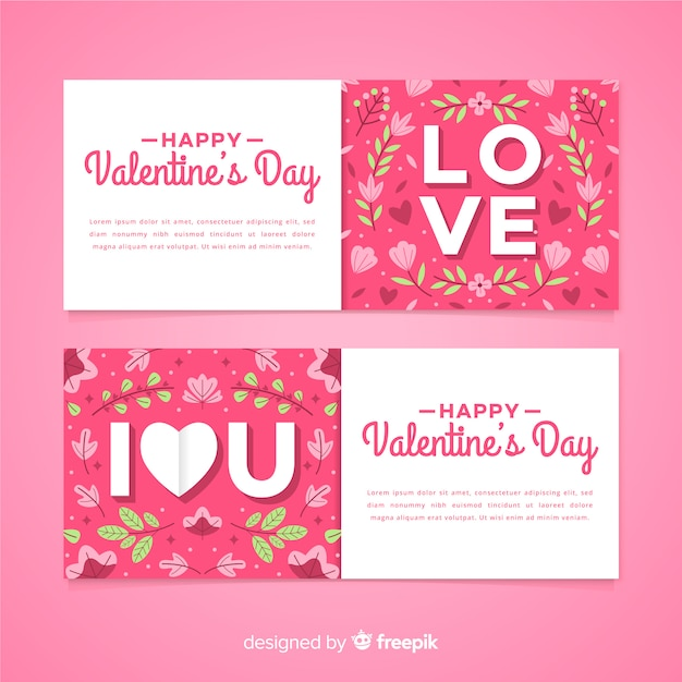 cute valentine's day card template vector  free download