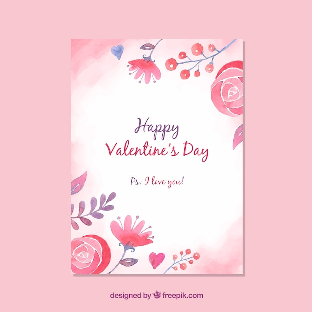 Valentines Day Card Templates | Cute Valentines Day Card Template Vector Free Download