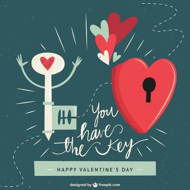 Cute Valentines Day Illustration Premium Vector