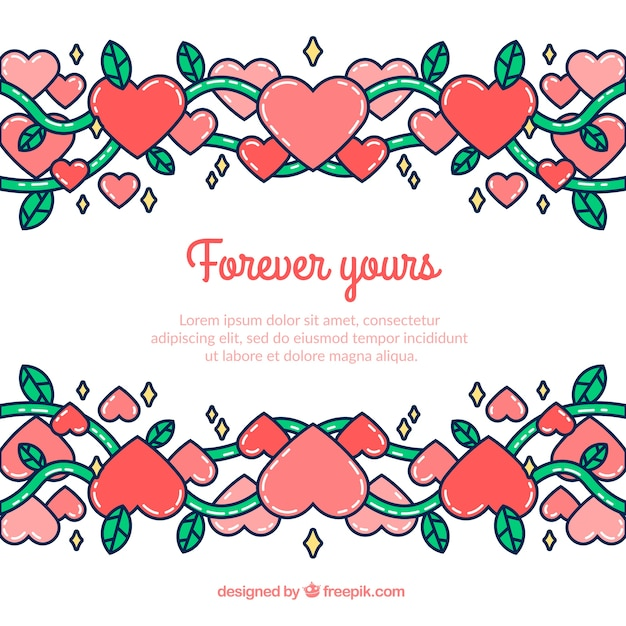 cute valentines day template background vector free download