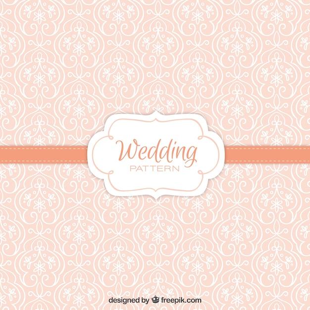 Cute vintage floral wedding pattern Free Vector