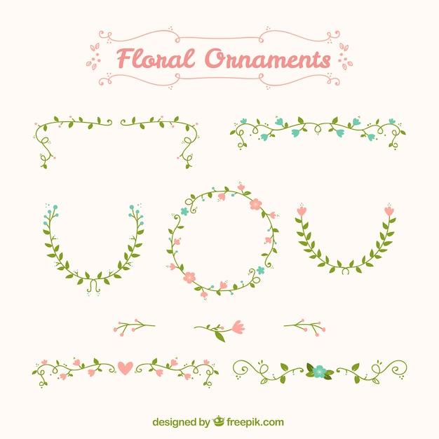 Cute vintage flower ornaments