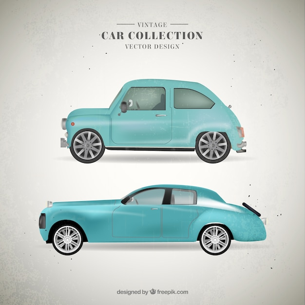 Cute Vintage Light Blue Cars Free Vector Great Ideas