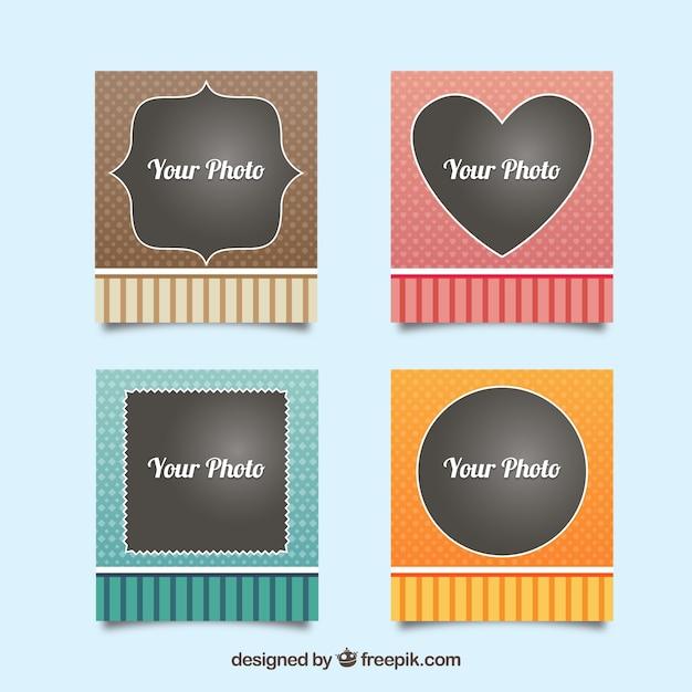 Cute vintage photo frames set