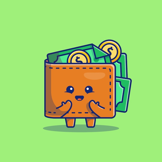 premium vector cute wallet money cartoon icon illustration business and finance icon concept isolated flat cartoon style https www freepik com profile preagreement getstarted 8901879