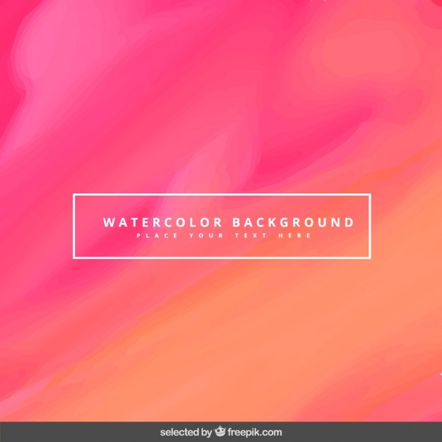 Cute watercolor background Free Vector