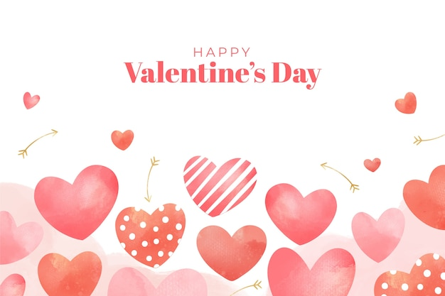 Cute Watercolor Valentines Day Wallpaper Vector Free Download