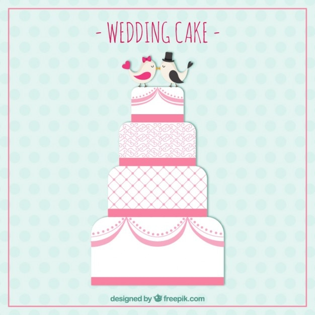 Cute Wedding Cake Vector Free Download