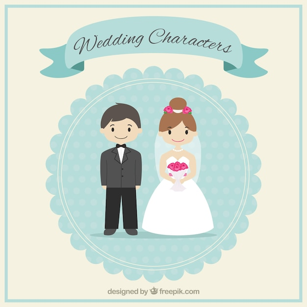 Cute wedding characters vector free download cute wedding characters free vector junglespirit Gallery