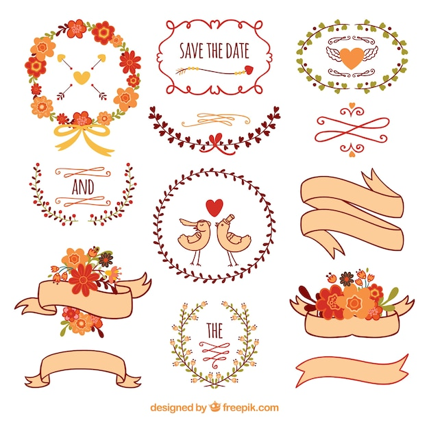 Cute wedding decoration vector free download cute wedding decoration free vector junglespirit Gallery