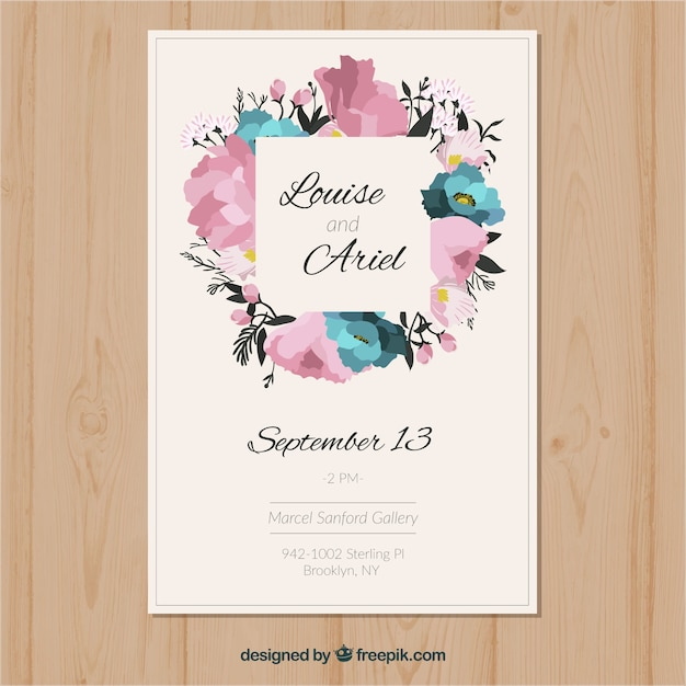 Cute Wedding Invitation Template Vector Free Download - Cute wedding invitation templates