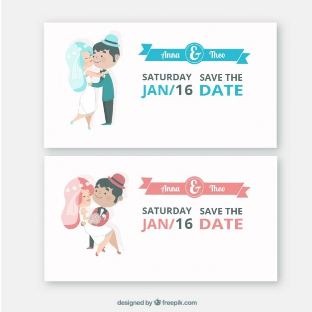cute wedding invitations vector | free download, Wedding invitations