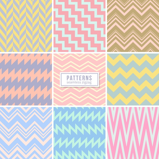 Cute wedding pink seamless vector patterns Premium Vector