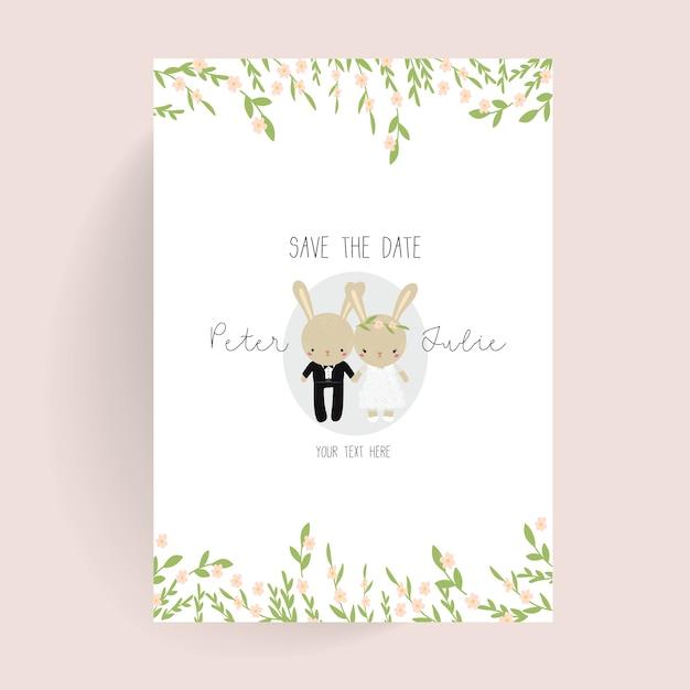 download vector cute wedding poster vectorpicker