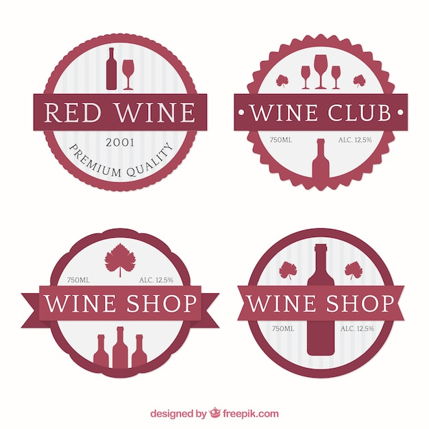Cute wine stickers