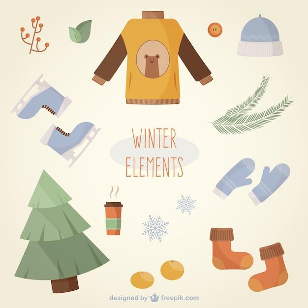 Cute winter elements