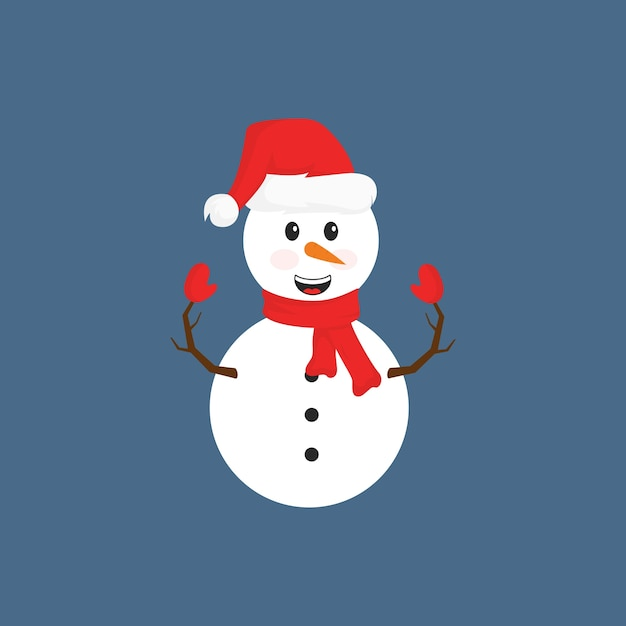 cute winter holiday snowman with clothes vector premium download