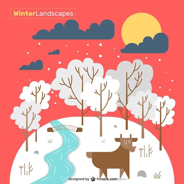 Cute winter landscape