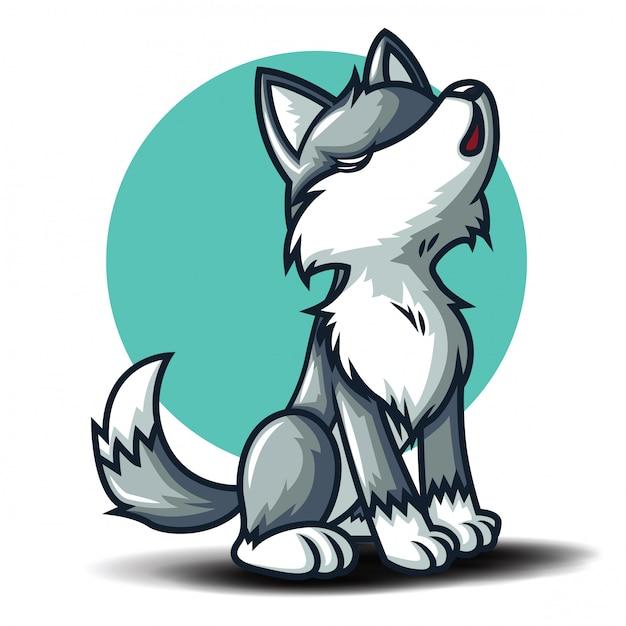 Cute wolf cartoon charactor. animal cartoon concept ... - photo#18