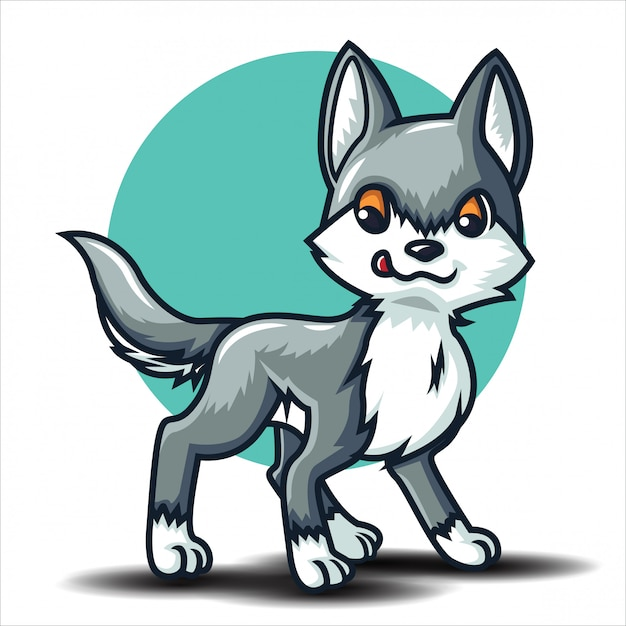 Cute wolf cartoon charactor. animal cartoon concept ... - photo#19