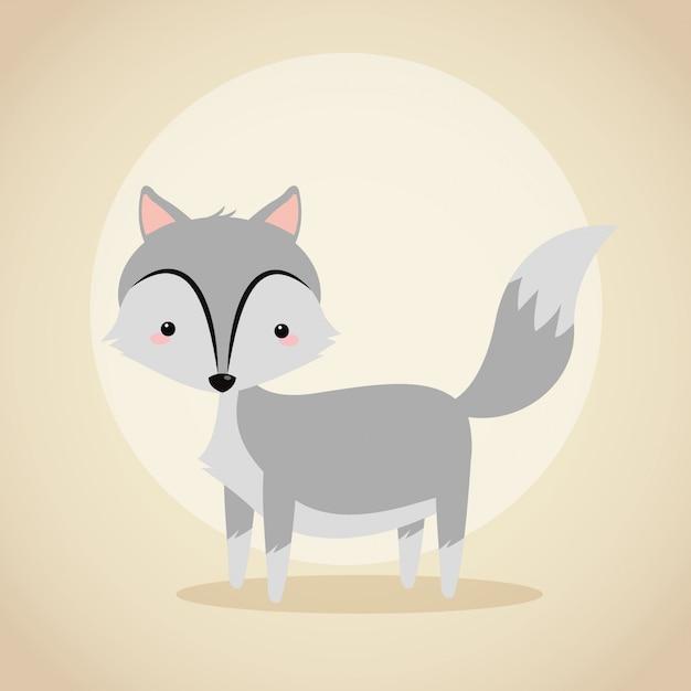 Cute wolf cartoon icon Vector | Premium Download - photo#44