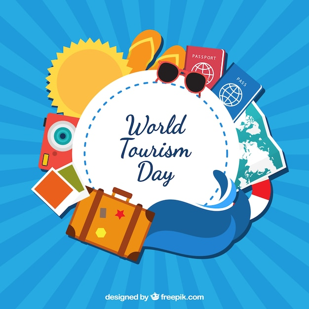 Cute world tourism day background