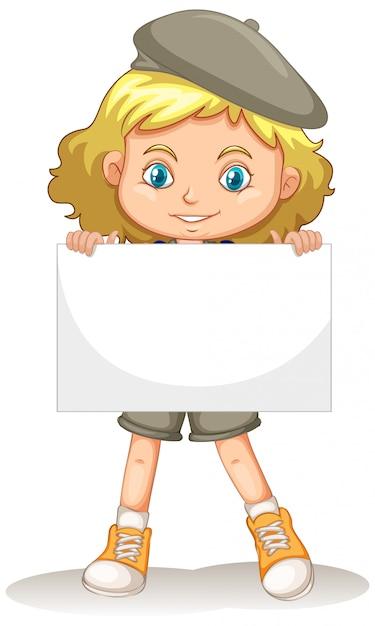 Personaggio dei cartoni animati di giovane ragazza carina Vettore gratuito