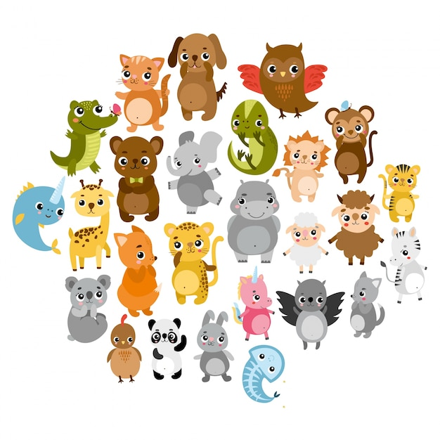 cute zoo animals - Images Cartoon Animals