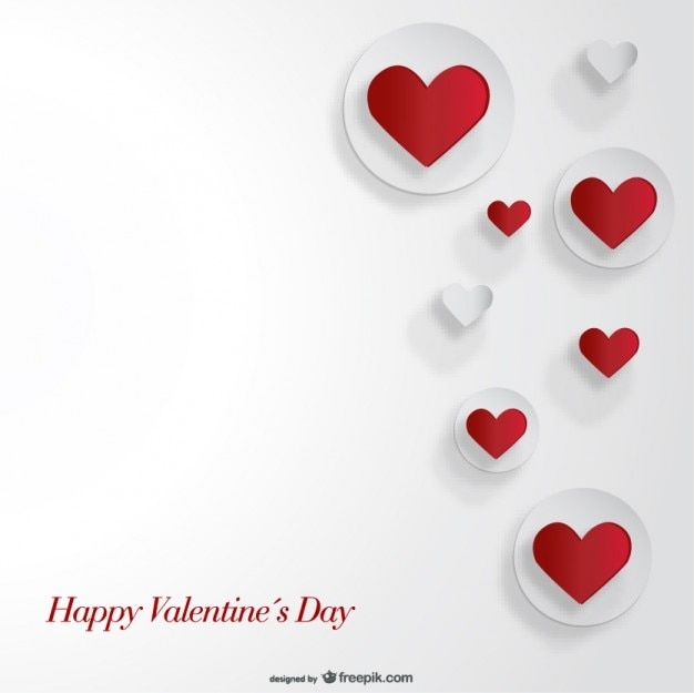 Cutout heart paper card design for valentine 39 s day vector for Designs for valentine cards