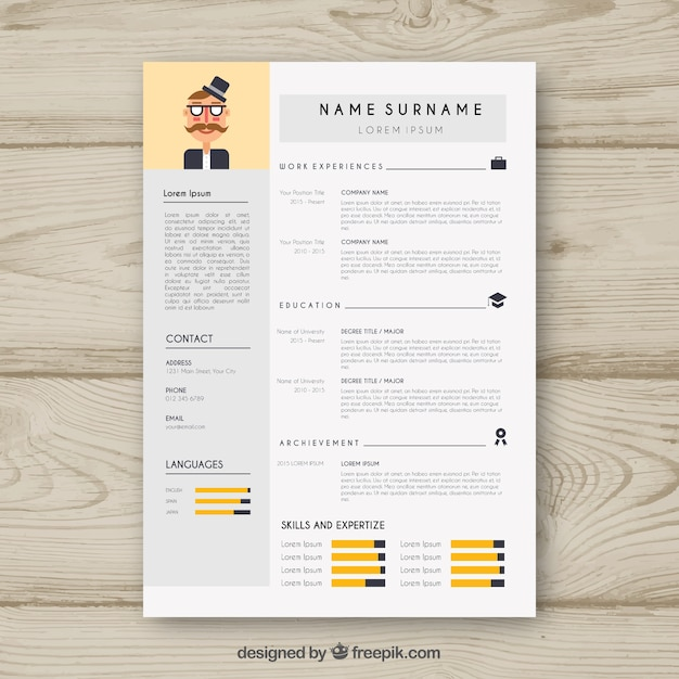 cv template with infographic data vector
