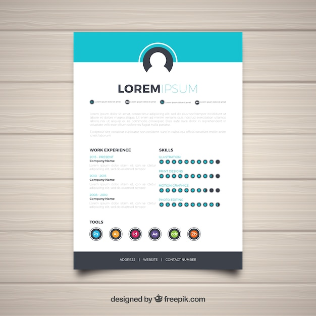 Cv Template With Skills Vector Free Download