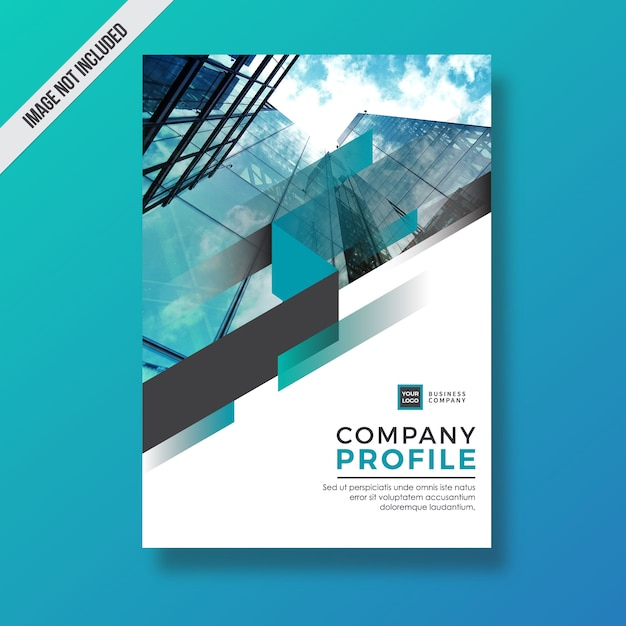 Cyan Modern Abstract Element Company Profile Design Vector  Premium