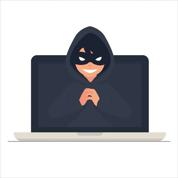 Cyber crime concept vector illustation Premium Vector