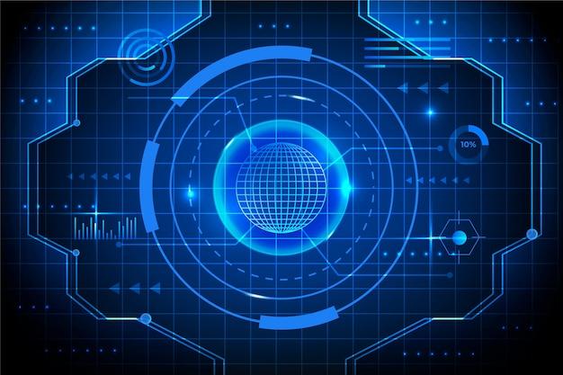Светокопия технологии cyber eye Бесплатные векторы