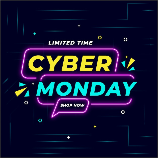 Cyber monday background illustration Premium Vector