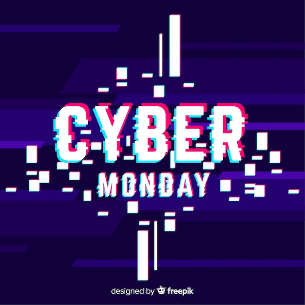 Cyber monday banner Free Vector