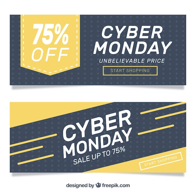 Cyber monday banners for discounts