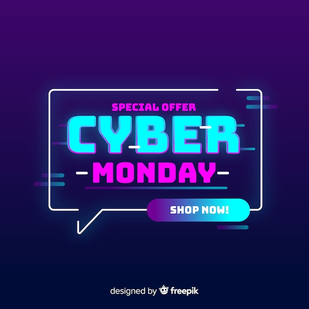 Cyber monday concept special offer Free Vector