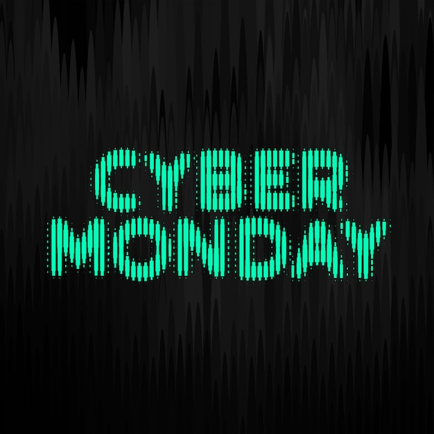 Cyber monday digital style technology banner  design Free Vector