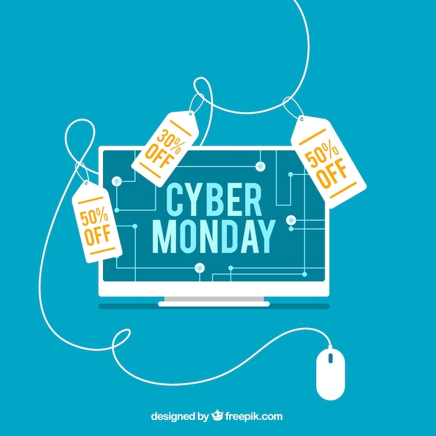 Cyber monday discount background