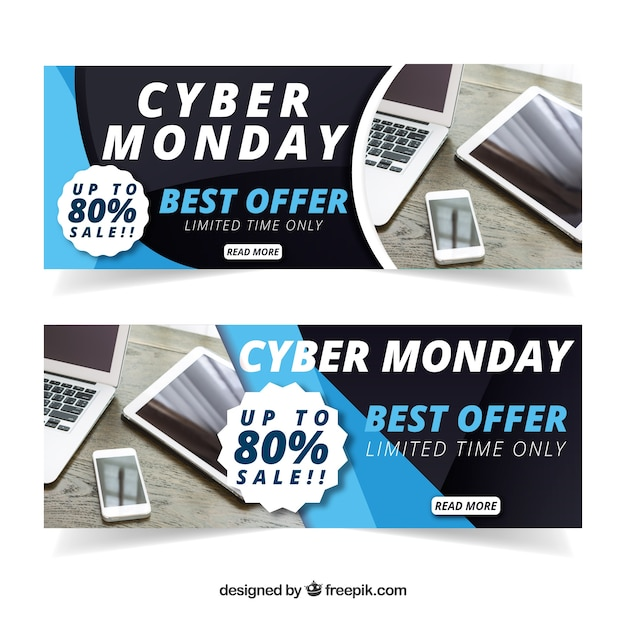 Cyber monday discount banners