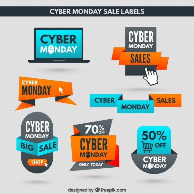 Cyber Monday Discount Labels