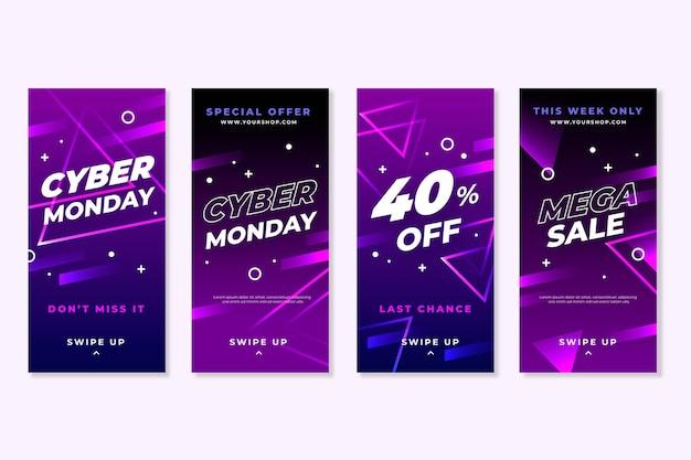 Storie di instagram di cyber lunedì Vettore gratuito