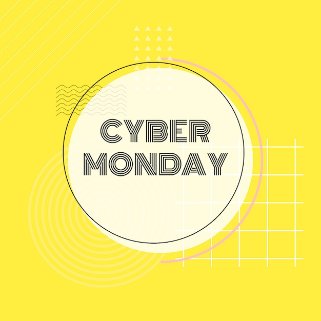 Cyber monday online shopping promotion vector Free Vector