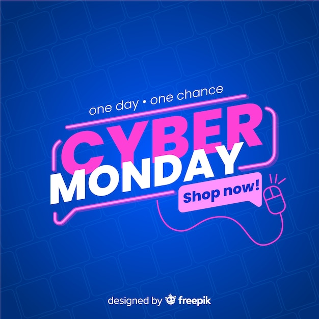 Cyber monday sale banner Free Vector