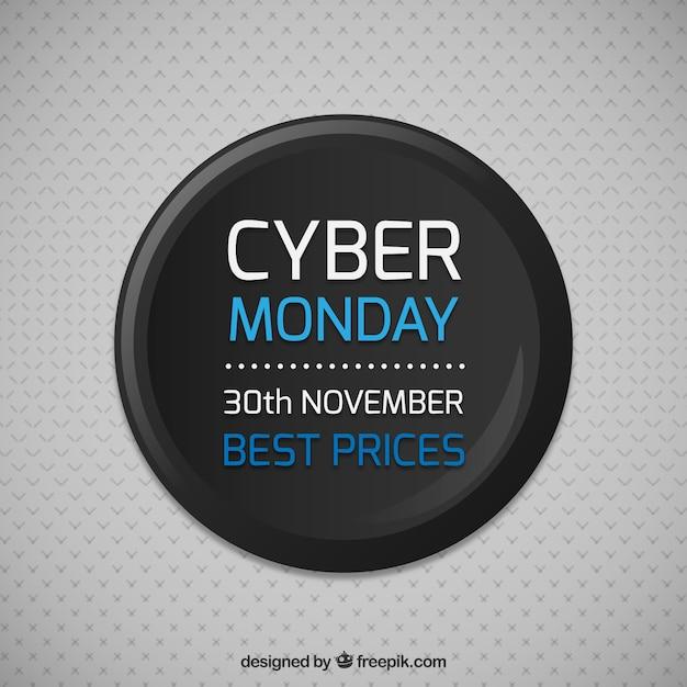 Cyber monday sale button Premium Vector